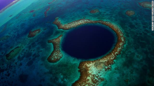 The Great Blue Hole is a massive underwater sinkhole that gives divers an almost perfect circle to dive in. The deeper you go, the clearer the water becomes, revealing amazing stalactites and limestone.
