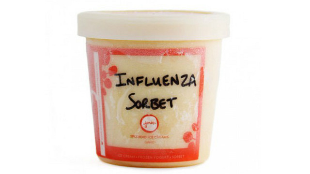 Jeni's Splendid Ice Cream claims its Influenza sorbet comes from a family recipe.