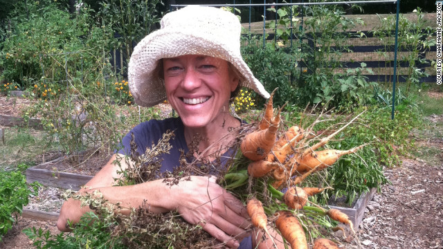 In 2010, Jackson grew carrots for the first time in her garden plot at the Alpharetta Community Garden in Georgia. &quot;I felt fantastic losing weight and getting healthy,&quot; she says.