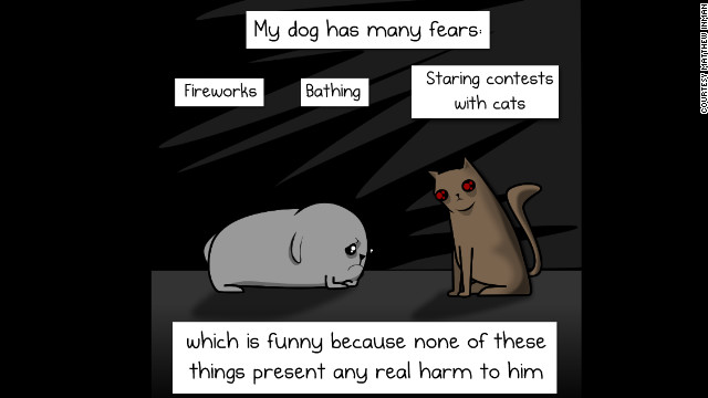 "An animal lover, Inman's tribute to his dog, <a href='http://theoatmeal.com/comics/dog_paradox' target='_blank'>""My dog: The paradox,""</a> was one of his most popular strips."