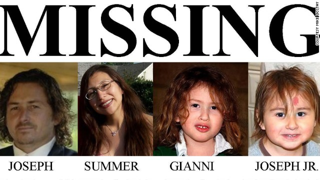 Joseph McStay; his wife, Summer; and their two children, Gianni and Joseph Mateo, have not been heard from since the night of February 4, 2010.