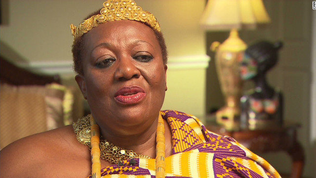 Peggielene Bartels is a Ghanaian-born American citizen who became the first female king of Otuam, a fishing village of about 7,000 people in Ghana, in 2008.