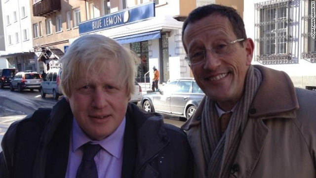 CNN's Richard Quest ran into London Mayor Boris Johnson on the streets of Davos.