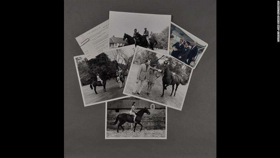 Rare Kennedy memorabilia goes up for auction in February at John McInnis Auctioneers from the estate of JFK's special assistant<strong>. </strong>Color photograph of J.F.K. and Jackie greeting Pakistani President Ayub Khan at Quonset Naval Air Station and photographs of Jackie riding at Glen Ora with Ayub Khan, taken by Robert Knudsen.