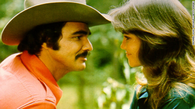 Reynolds appears in &quot;Smokey and the Bandit&quot; with Sally Field in 1977.
