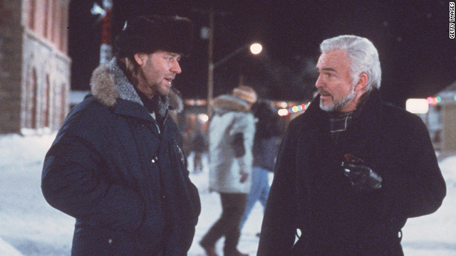 Russell Crowe and Reynolds star in &quot;Mystery, Alaska&quot; in 1999.