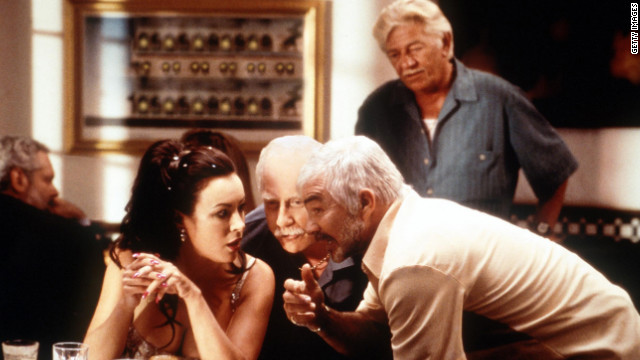 Jennifer Tilly, Richard Dreyfuss and Burt Reynolds star in &quot;The Crew&quot; in 2000.