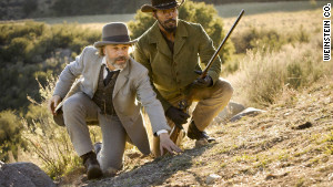 Waltz, left, helps free Foxx from slavery, and the two team up to save the latter\'s wife in the Quentin Tarantino film.