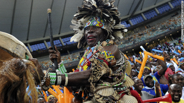 The current Africa Cup of Nations tournament is another example of football fans getting into the spirit of a competition. This fan went further than most during a match between Mali and the Democratic Republic of Congo.