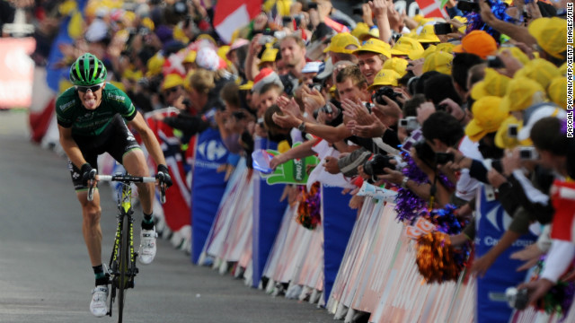 The annual Tour de France cycling race is a grueling marathon which is widely regarded as one of the toughest challenges in sport. Fans from all over the world gather and line the course in their thousands, often penning chalked messages of support on the road.
