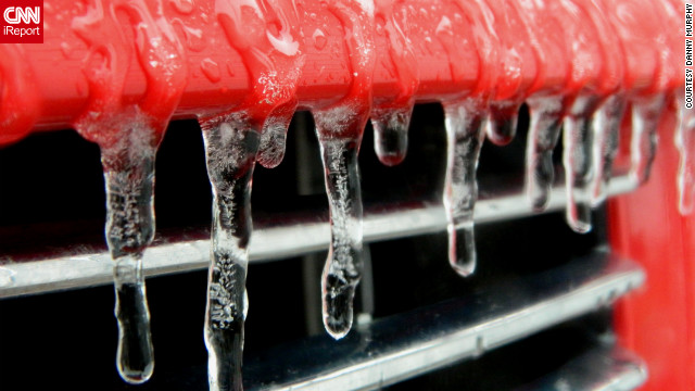 Stormchaser Danny Murphy spotted these icicles on his son's pickup truck as Iowa dealt with its worst ice storm since 2007. He snapped photos on January 27.