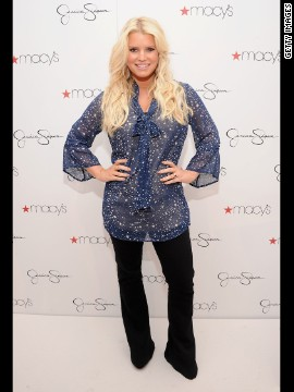 2012: Jessica Simpson loses 60 pounds of baby weight on Weight Watchers.