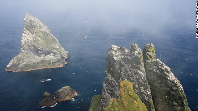 Love the Scottish islands, but want something with more bite? Head west of the Outer Hebrides, and you'll find the archipelago of St. Kilda, 40 miles into the Atlantic. Boreray, one of the least hospitable islands, was occupied in prehistoric times.