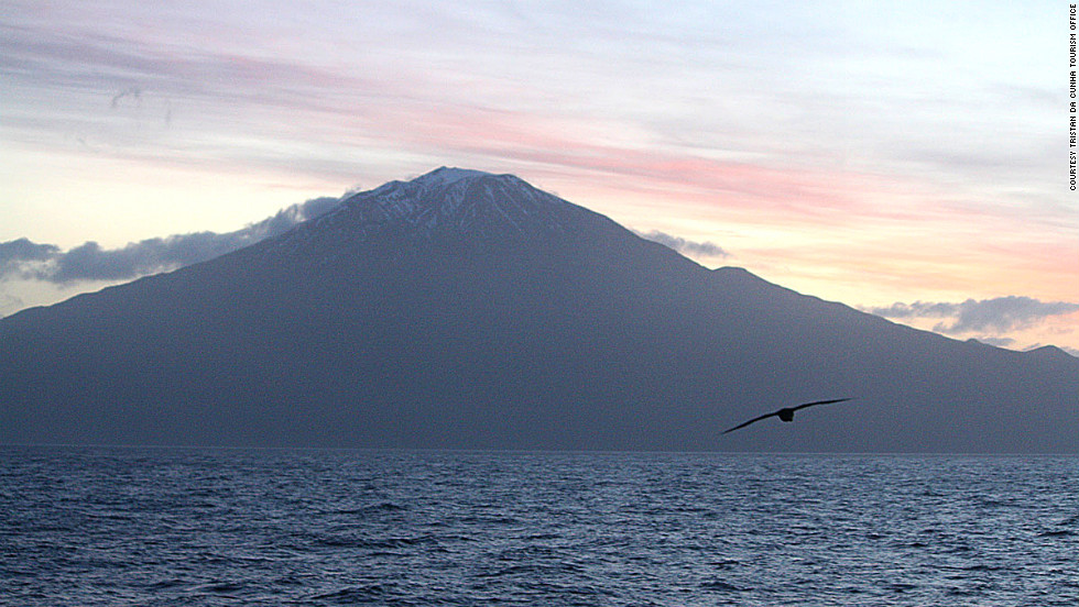 The British island group of Tristan da Cunha stands profoundly alone in the South Atlantic. The nearest landfall is South Africa, 1,750 miles to the east.