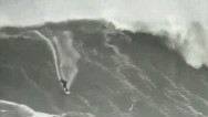 Incredible video of record-breaking surfer