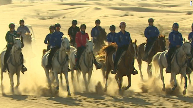 They are trained at a stables owned by Sheikh Hamdan, the brother of Dubai's ruler Sheikh Mohammed.