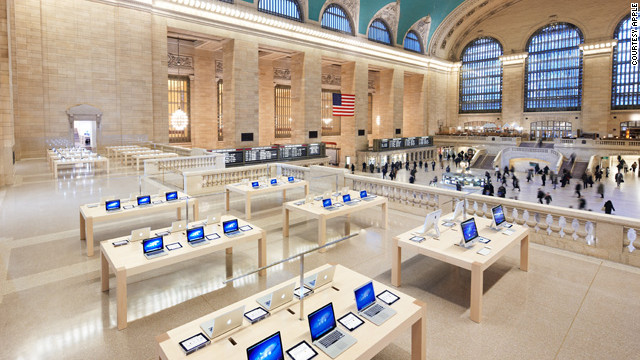 The station is now also a destination for shoppers looking for the latest Apple products ...