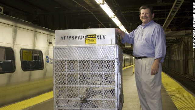 In 1990, recycling bins were introduced. Since 2001, the New York Times has helped fund special bins that allow papers to go in, but not come out.