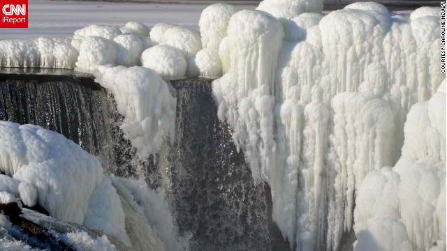 Caroline Newby saw a news report about the frozen formations on Paterson, New Jersey's Great Falls. She called her sister and told her, &quot;Get dressed warm, we are going to get some photos.&quot; Newby says, &quot;I love, love, love winter photography and will dress like an eskimo to get good photos.&quot;