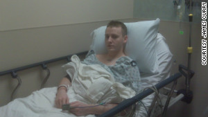 James Curry in the hospital in February 2011.