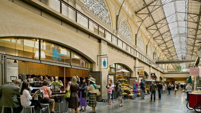 Visitors can spend an hour or more at the Ferry Building Marketplace and not sample all of the coffee, cheese, chocolate and other delicious food.