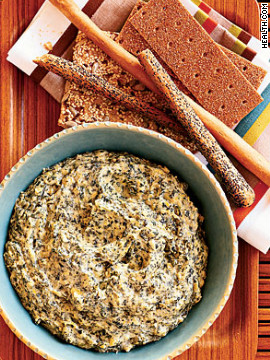 Use lima beans, cream cheese, Tabasco sauce, capers and mustard for a sneaky, low-cal way to get your family to eat iron-rich spinach. One serving is only 59 calories. Try this recipe: Spinach-artichoke dip