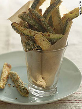 Eat 11 of these crispy veggies for only 181 calories, plus you'll get a boost of vitamin C. <strong>Try this recipe:</strong> <a href='http://www.health.com/health/recipe/0,,10000001831902,00.html' target='_blank'>Zucchini Fries</a>