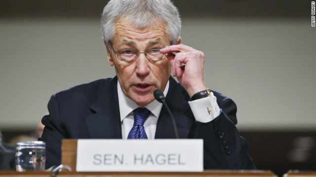 Hagel aligns himself with Obama policies