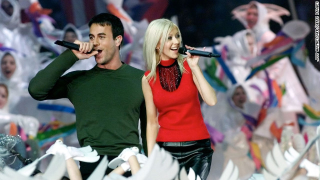 "In 2000, Christina Aguilera, Enrique Iglesias, Phil Collins and Toni Braxton performed in another <a href='http://www.youtube.com/watch?v=WN3okGx0rp8' target='_blank'>Disney-themed halftime show</a>. The concept was ""Tapestry of Nations"" and included a song called ""Reflections of Earth"" and narration by actor Edward James Olmos. Need we say more?"