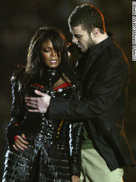 "In 2004, Janet Jackson, Diddy, Nelly, Kid Rock and Justin Timberlake put on quite a <a href='https://www.youtube.com/watch?v=wi_RIPHgXjU' target='_blank'>performance</a> for viewers -- although it doesn't much matter what they sang, since the show will be forever remembered for Jackson's ""wardrobe malfunction."""