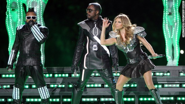 The 2011<a href='http://www.youtube.com/watch?v=xPIiaSnYV5E' target='_blank'> halftime show </a>showed promise. The crowd was pumped as the Black Eyed Peas entered from the ceiling, but once they hit the stage, things fell apart. Not even hundreds of dancers clad in glowing green lights could save this performance.