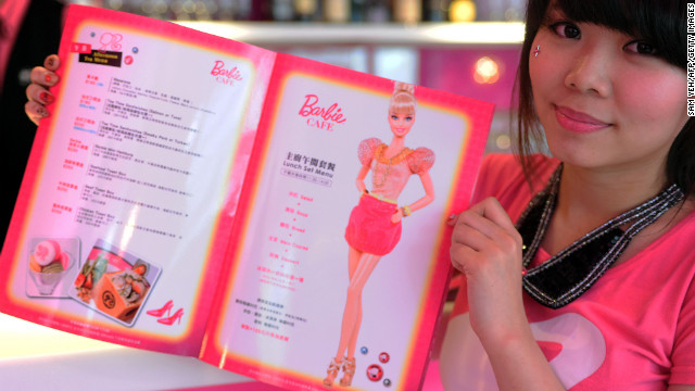 Barbie and food -- that is one big juxtaposition.