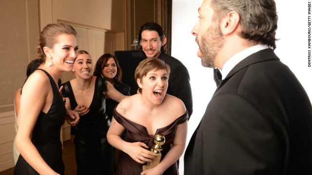 "<a href='http://www.imdb.com/name/nm2501633/' target='_blank'>Lena Dunham</a> won two <a href='http://www.goldenglobes.org/' target='_blank'>Golden Globes</a> for her comedy series ""<a href='http://www.imdb.com/title/tt1723816/' target='_blank'>Girls</a>"" in January 2013. She is the writer and executive producer of the show, for which she also plays the lead role."