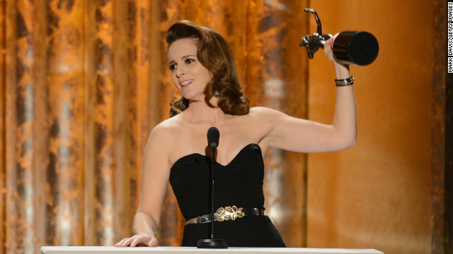 "<a href='http://www.imdb.com/name/nm0275486/' target='_blank'>Tina Fey</a> is an American actress, writer and director best known for her work on ""<a href='http://www.nbc.com/saturday-night-live/' target='_blank'>Saturday Night Live</a>"", ""<a href='http://www.nbc.com/30-rock/' target='_blank'>30 Rock</a>"" and her film ""<a href='http://www.imdb.com/title/tt0377092/' target='_blank'>Mean Girls</a>"". She has won seven <a href='http://www.emmys.com/' target='_blank'>Emmy Awards </a>and two Golden Globes and was the first woman to host the Golden Globes in 2013."