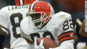 Newsome was a hall of fame tight end for the Cleveland Browns and never missed a game.