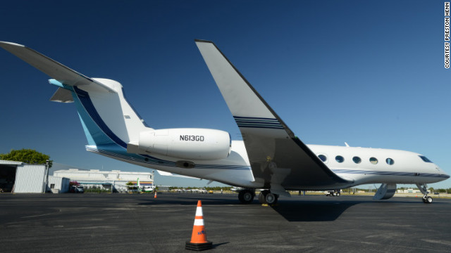 Oprah, media mogul David Geffen and designer Ralph Lauren reportedly have expressed interest in the Gulfstream G650. Its amenities include extra tall windows and a night-vision pilot display for safer landings. Seating: up to 18. Range: about 8,000 statute miles. Top speed: about 704 mph.