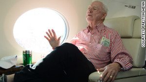 Preston Henn enjoys a seat aboard his new Gulfstream G650, one of only a handful that have been produced so far.