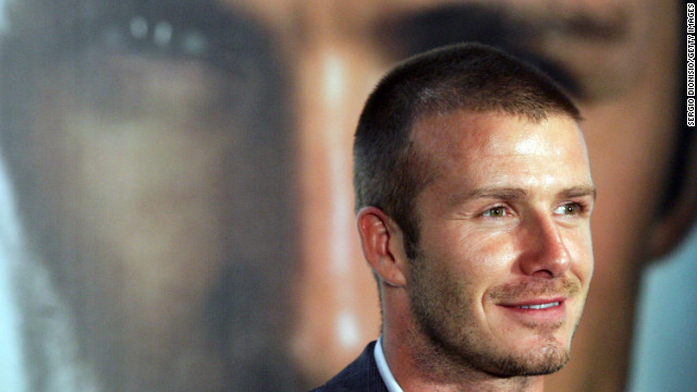 "Beckham makes an appearance to promote his fragrance ""David Beckham Intimately Night"" in Sydney in 2007."