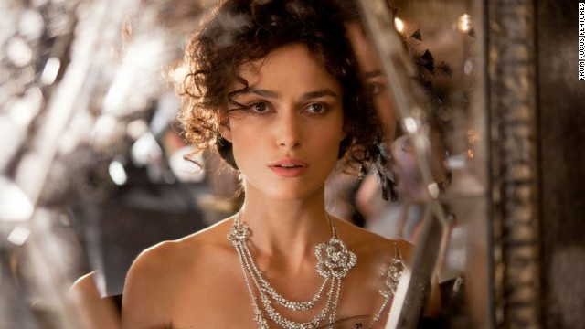 "Keira Knightley stars as Anna Karenina in a 2012 film adaptation of ""Anna Karenina"" by Leo Tolstoy."