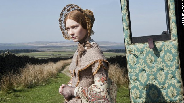 Mia Wasikowska as Jane Eyre in the 2011 film adaptation of Charlotte Bronte's novel &quot;Jane Eyre.&quot; 