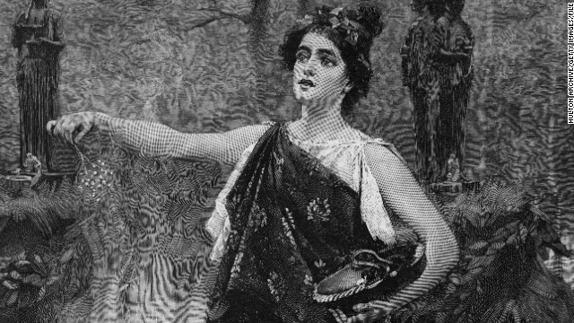 "A drawing of Lady Macbeth in ""Macbeth"" by William Shakespeare."