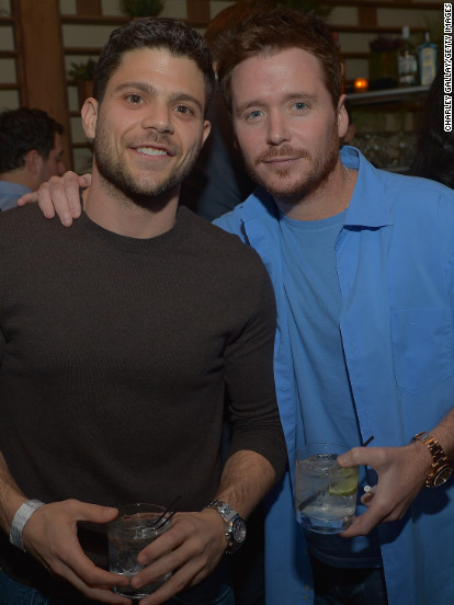 Jerry Ferrara and Kevin Connolly attend an event in West Hollywood.