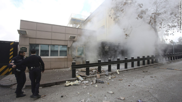 Photos: U.S. Embassy in Turkey bombed