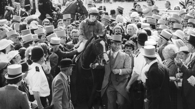 """I rode champions for many years afterwards and no one came close,"" said British jockey Walter Swinburn, who as a 19-year-old rode Shergar to that historic Epsom Derby win."
