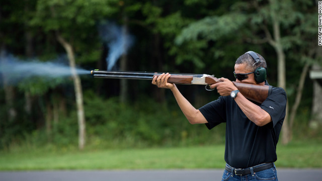 Photos: Arming the commander in chief