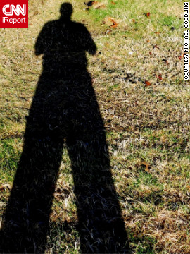 Snapping this photo of his shadow on at 9:33 a.m. in Springfield, Missouri, iReporter Michael Goodling is betting on a shorter winter.