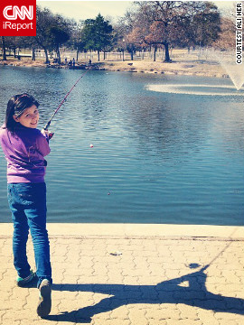 Ali Her of Dallas posted this photograph while fishing at Kidd Springs Park on Groundhog Day. She's predicting an early spring.