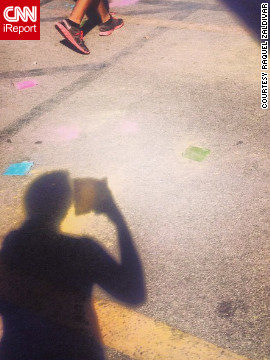 Raquel Zaldivar snapped this photo on Instagram in Miami, Florida, on Groundhog Day.