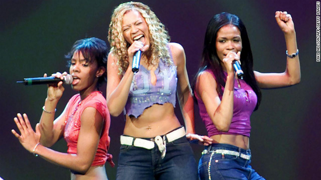 Beyoncé performs with Kelly Rowland, left, and Michelle Williams -- the final version of the group that put her on the map -- for President-elect George W. Bush during a pre-inaugural event in Washington on January 19, 2001.