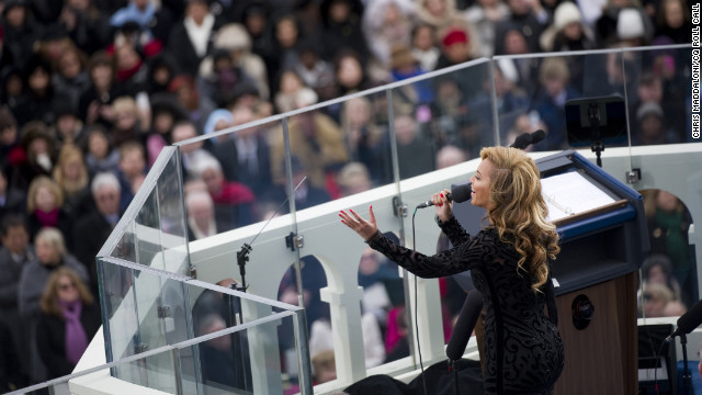 "Earlier this year, Beyonce found herself at the center a firestorm after it was revealed she used a ""backup track"" to sing the national anthem at the inauguration of President Barack Obama on January 21."